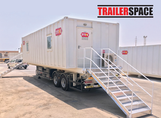 TrailerSpace Trailer Mounted Modular Building